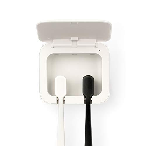 FANIER Automatico Sterilizzatore UV per spazzolino da Denti e spazzolino da Denti a Raggi ultravioletti per Montaggio a Parete, 2 spazzolini