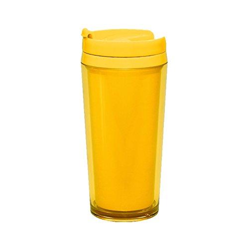 Zak Designs Thermobecher Kunststoff, Gelb,