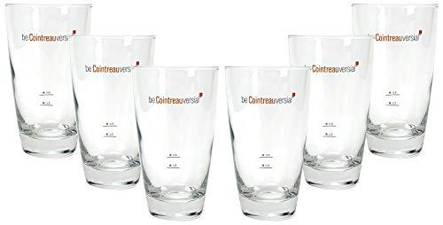Cointreau Glas - Gläser Set - 6X Gläser 2cl + 4cl Eichung/Eichstrich - be Cointrau versial