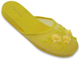 57905f824a65d starbay New Womens Chinese Mesh Slippers Slides Slip On Sandal House Shoe  Floral Sequin Bead