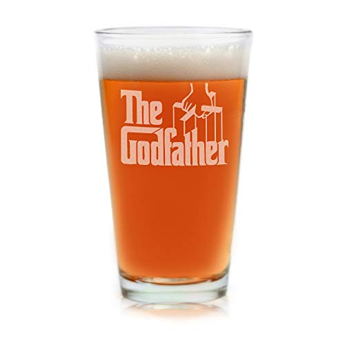The Godfather Movie Pint Glass Godparent Gift Officially...