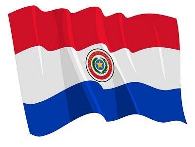 Autoaufkleber Sticker Fahne Paraguay wehend Flagge Aufkleber