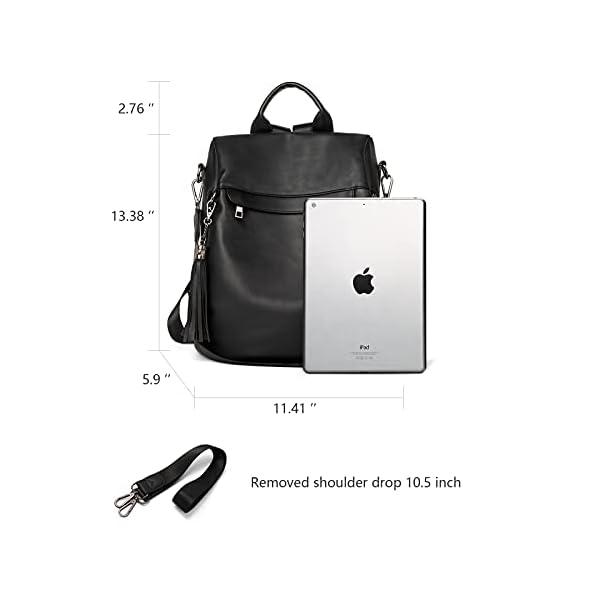BROMEN Backpack Purse for Women Leather Anti-theft Travel Backpack Fashion Shoulder Bag 3