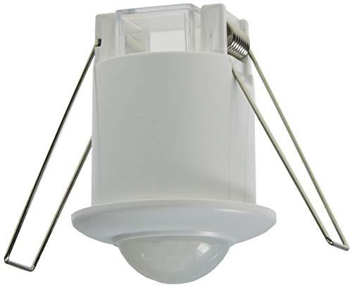 Micro Bewegungsmelder für Deckenmontage 360° flach Einbau Ø 40mm LED geeignet einstellbar 6m Detektion weiß 230V