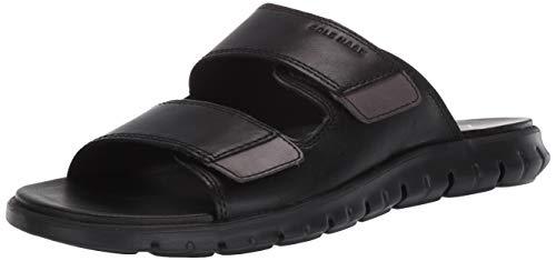 Cole Haan mens Zerogrand Multistrap Slide Sandal, Black, 10 US