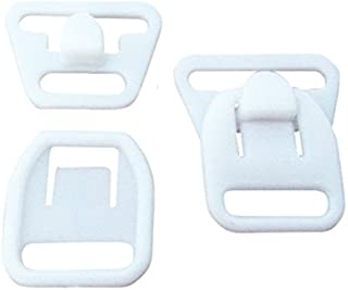 10 Pairs (40 Pieces) KAMsnaps Nursing Maternity Clips Clasps Plastic Hooks Buckles for DIY Breastfeeding Bras Camis and Tank Tops White 12mm (1/2