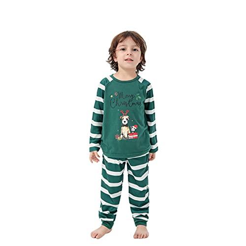 Navidad Pijamas Familiares a Juego conjuntos Ropa de Dormir para Hombre Mujer Niños Niña Bebe Tops Camiseta y Pantalones Invierno Regalo Talla Grande Reno Impreso Divertido Camisón Casual Homewear
