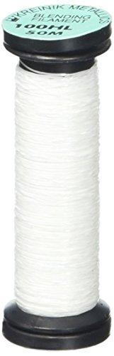Kreinik Mezcla filamento 50M metálico Hilo para Costura, 50, Hi Lustre Blanco