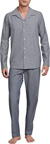Seidensticker Pure Spirit Web-Pyjama lang durchgeknöpft Herren, 165692, grau, 60