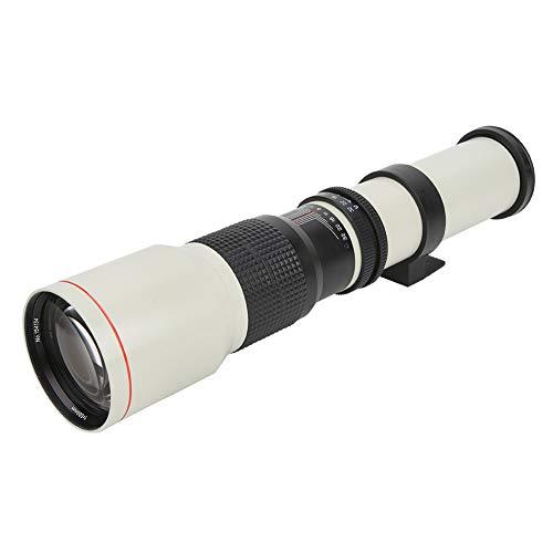 Aukson Lente telefoto, 500 mm F8-F32 Lente de cámara telefoto de Enfoque Manual para cámara Nikon con Montura F, Lente con Zoom telefoto
