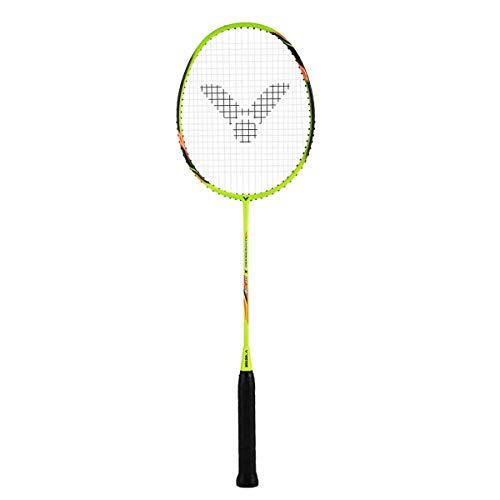 VICTOR Badmintonschläger Hypernano X DF 08 bespannt mit Yonex BG 65