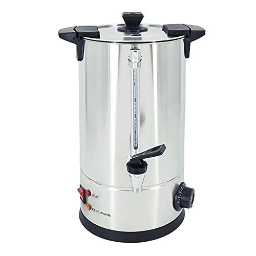 TAIMIKO Hervidor de agua, Dispensador para té, café, agua 10 litros,1800W, Mantener el calor,Hervidor dispensador, temperatura regulable 30-100°C,tapa extraíble,acero inoxidable (10L)