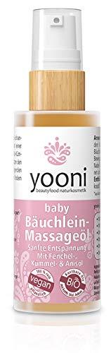 Yooni Baby Bäuchleinöl   Sanfte Entspannung   Mit Fenchel-, Kümmel- & Anisöl   100% BIO   100% Vegan   Made in Germany   30 ml