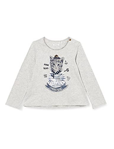 IKKS tee-Shirt Manches Longues Gris Chat Camiseta para Bebés