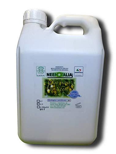 Olio Puro di Neem Biologico in Formato da 5 lt. Certificato ECOCERT e Biocertitalia