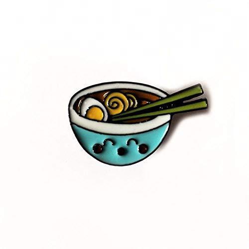 Moda Smalto Risvolto Cartone Animato Spille Bevanda Miscela di cibo Spille Distintivi Zaino Carino Pin Regali per gli amici Gioielli, Noodle-S8
