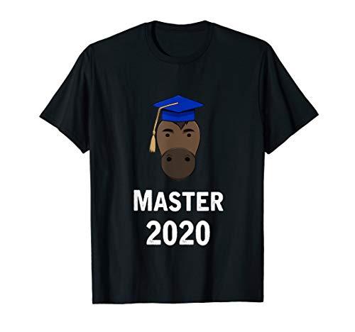 Cooles Master Studienabschluss Uni Geschenk Pferd T-Shirt