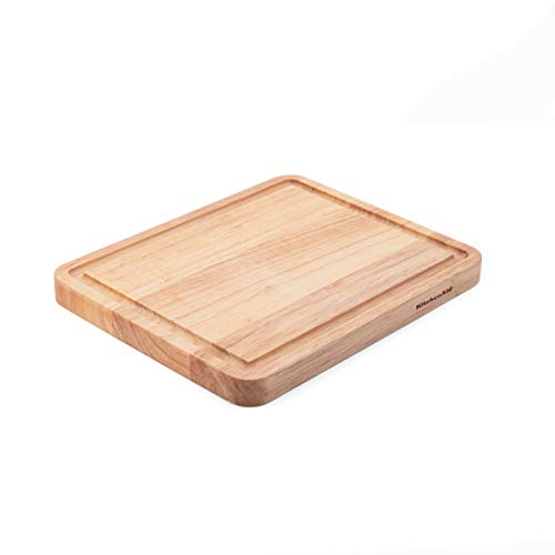 KitchenAid Classic Wood Cutting Board, 8x10-Inch, Natural