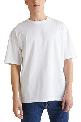 edc by Esprit 030CC2K314 T-Shirt Herren, Weiß (100/WHITE), L