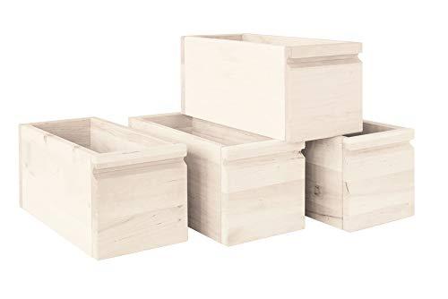 BioKinder 23413 Laura Office-Schubladen aus Massivholz 4 Stück