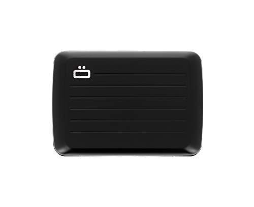 Ögon Smart Wallets - Stockholm V2 Cartera Tarjetero - Protección RFID: Protege Tus Tarjetas de Robar - hasta 10 Tarjetas + Recetas + Notas - Aluminio anodizado (Black)