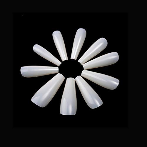 500PCS Ballerina-Fake-Nägel Künstliche Nägel mit langem Sarg Acryl falsche Nägel für Nail Art Decal Full Cover Nagelspitzen 10 Größe Natürliche künstliche Nägel