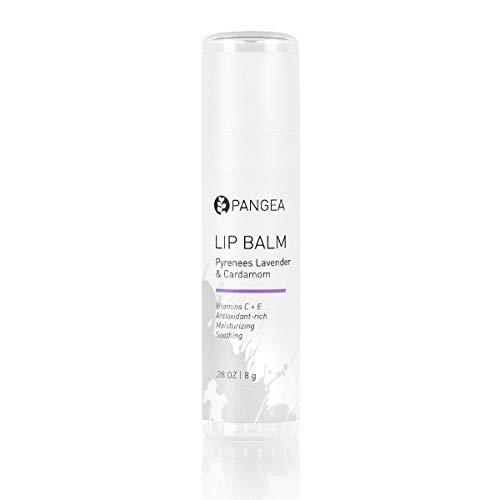 Pangea Organics Lip Balm, Pyrenees Lavender With Cardamom, 0.25-Ounce Tubes