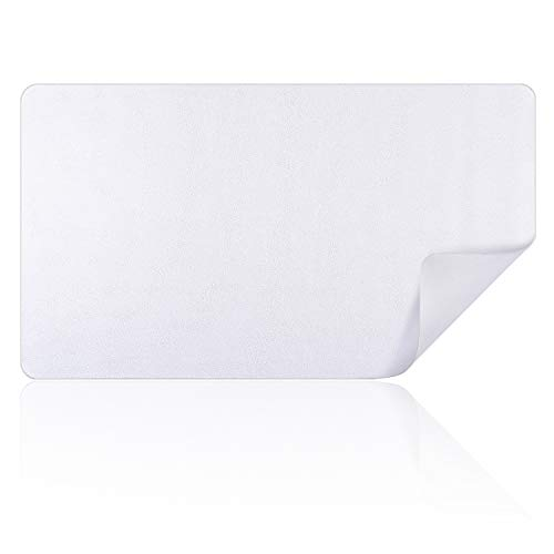 """Rancco Extended Mouse Pad PU Leather Large Keyboard Pad Laptop Desk Pad, Ultra-thin Waterproof Non-Slip Large Desk Mat Writing Pad Table Protector Desk Blotter for Office, Gaming,Travel[28x16"""",Silver]"""