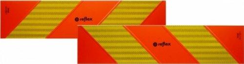 Heckwarntafel für Zugmaschinen, auf Aluplatte, ECE 70.01, 565 mm x 130 mm, 2 Stück