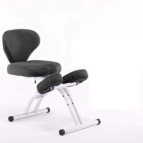 LIUBINGER Drehbarer Bürostuhl Kniestuhl, ergonomischer Computerstuhl, Lernen Stuhl mit Lifting Haltungskorrektur for Kinder, Geeignet for 110-180cm (Color : Black)