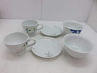 内田皿山焼 取り皿×2 お椀×2 カップ×2 食卓ペアセット 〇YR-10799〇 コレクション