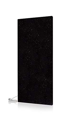 Magma® Naturstein-Infrarotheizung Original Funkgesteuert - Deutscher Hersteller seit 1992 - Magmaheizung mit 10 Jahren Garantie (Granit Black Galaxy, 1200 Watt / 1180 x 520)