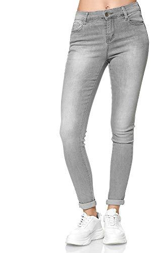 Elara Dames Jeans High Waist Stretch Skinny Slim Chunkyrayan