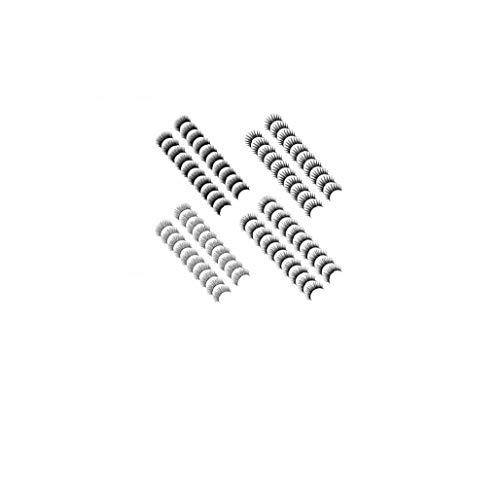 40 Paires Noir Long Et Épais Cils Artificiels Réutilisables Fibre Cils Pour Beauté Cosmétiques 4 Sortes De Style