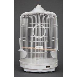 GB バードゲージ 丸カゴ M ホワイト 小鳥用カゴ