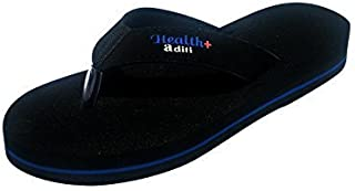 Aditi Anti Foot Pain Healthcare Mcr Rubber Slipper For Women - Black