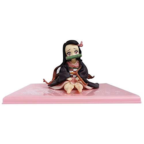 Horypt Kamado Nezuko - Mueca japonesa de anime con estatuas de bonito personaje, juguete de PVC realista, decoracin de mesa, regalo de la mejor coleccin de regalo
