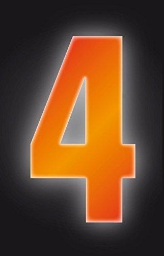 Autocollants à poubelles numérotés 17 cm 4-Couleur Orange haute visibilité