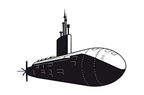 universumum Wandtattoo U-Boot uss427 Muursticker Muursticker Kinderkamer Zelfklevend 60 x 44 donkerbeige