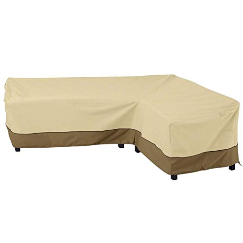 Funda de sofá de esquina en forma de L, impermeable, a prueba de polvo, para exteriores, patio, salón, sofá, muebles de jardín, funda protectora para sofá Left Armrest Sofa Cover