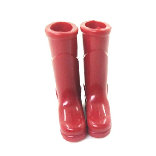xuew 1Pc Mini Regen Stiefel Puppenhaus Dekoration Mini-Spielzeug-Puppe Haus Zubehör Mini-Regen Stiefel für Puppenhaus, Rot