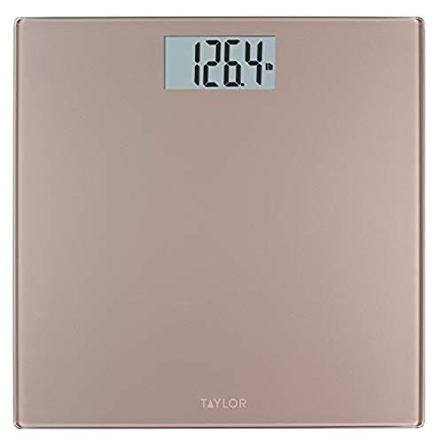 Taylor Precision Products Digital 400 lb Capacity Bathroom Scale, Satin Nickel