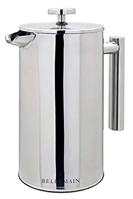 Bellemain French Press - Extra Filters Included - Coffee and Tea Maker - Stainless Steel- (Stainless Steel, 20 oz)