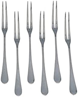 Stainless Steel Escargot Cocktail Appetizer 2 Tins Snail Forks Pack of 6