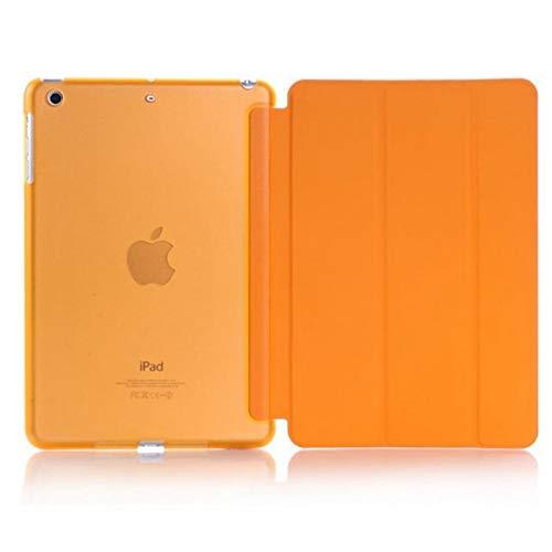 RZL PAD & TAB cases For iPad MINI 5 2019, Ultra-thin Slim Tablet Smart Case Flip Magnetic Folding Stand PVC Cover for iPad MINI 5 (Color : Orange)