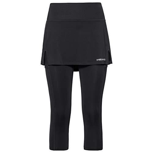 HEAD Damen Club 3/4 Tights Skirt W, Black, Large