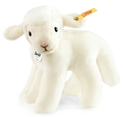 Steiff Linda Lamm - 16 cm - Kuscheltier für Kinder - kuschelig & waschbar - weiß - stehend (073397)