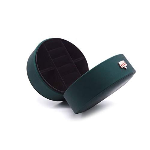 ZJL220 - Joyero con corona redonda para joyas de viaje de piel sintética