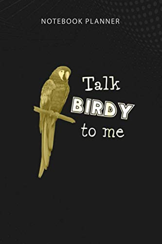 Notebook Planner Ara parrot Talk birdy to me D010 0633A: Money, Homework, Over 100 Pages, 6x9 inch, Pretty, Hour, Pocket, College