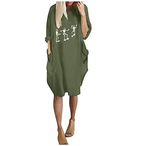Harpily Mujer Moda Cuello Mujer Sudadera Tops Chaqueta Suéter Jersey Mujer Otoño Invierno Talla Grande Hoodie Sudadera Suelto Sólido Manga Larga con Capucha Tejido (Verde, M)